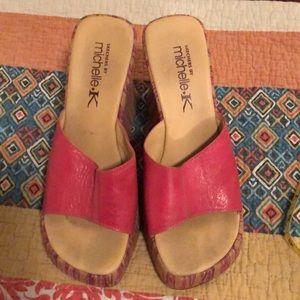 94cf9db0f129 Michelle K Shoes - Michelle K Sketchers hot pink leather platform